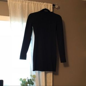 NWOT Black Long sleeve mini dress